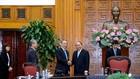 Thủ tướng Nguyễn Xuân Phúc tiếp đoàn đại biểu Liên đoàn Các tổ chức kinh tế Nhật Bản (Keidanren). Ảnh: VGP