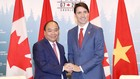 Thủ tướng Nguyễn Xuân Phúc và Thủ tướng Canada Justin Trudeau. Ảnh: VGP