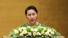 Chủ tịch Quốc hội Nguyễn Thị Kim Ngân phát biểu bế mạc kỳ họp thứ 5, Quốc hội khóa XIV. Ảnh: VGP