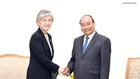 Thủ tướng Nguyễn Xuân Phúc đánh giá cao việc Chính phủ Hàn Quốc cử đoàn sang tham dự và đóng góp vào thành công của Hội nghị WEF ASEAN - Ảnh: VGP