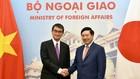 Phó Thủ tướng Phạm Bình Minh và Bộ trưởng Ngoại giao Nhật Bản Taro Kono. Ảnh: VGP