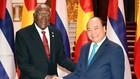 Thủ tướng Nguyễn Xuân Phúc tiếp Phó Chủ tịch thứ nhất Hội đồng Nhà nước và Hội đồng Bộ trưởng Cuba  Salvador Valdés Mesa. Ảnh: VGP