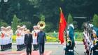 Tổng Bí thư, Chủ tịch nước Nguyễn Phú Trọng mời Tổng thống Ram Nath Kovind duyệt đội danh dự. Ảnh: VGP