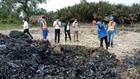Khu đất tại xã Phong Phú, huyện Bình Chánh chôn khoảng 15.000 m3 chất thải nghi là chất thải công nghiệp (ảnh: K.C)