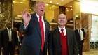 Donald Trump và Masayoshi Son đã gặp nhau tại Trump Tower hôm qua. Ảnh:AP