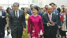 Thủ tướng Nguyễn Xuân Phúc và phu nhân thăm Trường Đại học Công nghệ Auckland, New Zealand - nơi có nhiều sinh viên Việt Nam đang theo học. Ảnh: Đà Trang