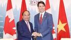 Thủ tướng Nguyễn Xuân Phúc hội đàm với Thủ tướng Canada Justin Trudeau. Ảnh: Quang Hiếu