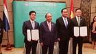 Lễ ký kết Biên bản ghi nhớ về hợp tác hỗ trợ phát triển DNNVV giữa Cục Phát triển doanh nghiệp và Kbank Thái Lan. Ảnh: Thùy Trâm