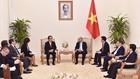Thủ tướng Nguyễn Xuân Phúc mong muốn Nhật Bản sẽ vươn lên dẫn đầu về đầu tư FDI, du lịch vào Việt Nam. Ảnh: Đoàn Bắc