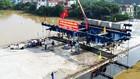 Cầu Đồng Sơn có tổng mức đầu tư 1.163 tỷ đồng được hợp long ngày 19/8/2018. Ảnh: Hạnh Liên