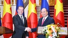Thủ tướng Nguyễn Xuân Phúc và Thủ tướng Liên bang Nga Dmitry Medvedev. Ảnh: Quang Hiếu