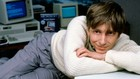 Bill Gates trong phòng làm việc tại Washington năm 1985. Ảnh:AFP