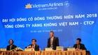 Ông Dương Trí Thành, Tổng giám đốc Vietnam Airlines đang phát biểu tại đại hội.