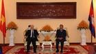 Tổng Bí thư, Chủ tịch nước Nguyễn Phú Trọng hội kiến với Chủ tịch Thượng viện Campuchia Samdech Say Chhum. Ảnh: TTXVN