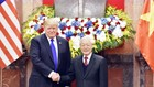 Tổng Bí thư, Chủ tịch nước Nguyễn Phú Trọng tiếp Tổng thống Donald Trump. Ảnh VGP
