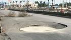 'Hố tử thần' xuất hiện trên quốc lộ ở Quảng Ninh