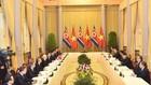 Tổng Bí thư, Chủ tịch nước Nguyễn Phú Trọng hội đàm với Chủ tịch Triều Tiên Kim Jong Un