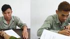 Tú (bên trái) và Hào (bên phải) tại cơ quan điều tra. Ảnh: Q.K