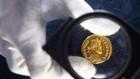 Đồng xu vàng La Mã được sản xuất trong khoảng năm 293-296 sau Công nguyên.