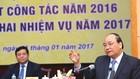 Thủ tướng Nguyễn Xuân Phúc phát biểu chỉ đạo tại Hội nghị tổng kết công tác năm 2016 và triển khai nhiệm vụ năm 2017 của Bộ KH&ĐT. Ảnh: Lê Tiên
