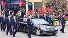 Dàn cận vệ của Chủ tịch Kim Jong-un ở ga Đồng Đăng