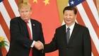 Tổng thống Mỹ Donald Trump (trái) và Chủ tịch Trung Quốc Tập Cận Bình trong một lần gặp.