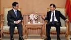 Phó Thủ tướng Trịnh Đình Dũng tiếp ông Masaaki Yamada, Giám đốc điều hành Ngân hàng Hợp tác quốc tế Nhật Bản sáng ngày 7/3 tại Hà Nội. Ảnh: Qúy Bắc