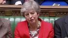 Thủ tướng Anh Theresa May sau thất bại trong cuộc bỏ phiếu tại Quốc hội Anh ngày 12/3 - Ảnh: Reuters.