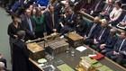 Các quan chức và nghị sỹ Anh trong cuộc bỏ phiếu về hoãn Brexit tại Quốc hội nước này ngày 14/3 - Ảnh: BBC.