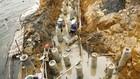 Gói thầu số 12 Gia cố kè Sơn Tây, thị xã Sơn Tây, TP. Hà Nội lựa chọn nhà thầu theo hình thức đấu thầu rộng rãi trong nước. Ảnh: Nhã Chi