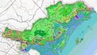 Bản đồ định hướng phát triển không gian vùng tỉnh Quảng Ninh.