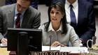 Đại sứ Mỹ tại Liên Hợp Quốc trong phiên họp ngày 8/12. Ảnh:AP.