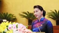 Chủ tịch Quốc hội Nguyễn Thị Kim Ngân phát biểu khai mạc Kỳ họp thứ 6 Quốc hội khóa XIV. Ảnh: Quang Khánh