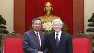 Tổng Bí thư tiếp đoàn đại biểu Ban Tổ chức Trung ương Đảng NDCM Lào