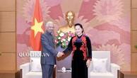 Chủ tịch Quốc hội Nguyễn Thị Kim Ngân và Ngài Kamal Malhotra, Điều phối viên Thường trú Liên Hợp Quốc tại Việt Nam. Ảnh: quochoi.vn