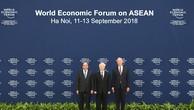 Chùm ảnh: Thủ tướng chủ trì lễ đón các trưởng đoàn dự WEF ASEAN 2018
