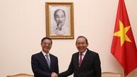 Phó Thủ tướng Trương Hòa Bình tiếp Chánh án Tòa án nhân dân tối cao Trung Quốc Chu Cường. Ảnh: VGP