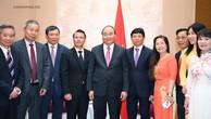 Thủ tướng tiếp đại diện Liên hiệp Hội Người Việt Nam tại châu Âu và Hội Người Việt tại Czech