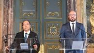 Hai Thủ tướng nhất trí cho rằng, đây là thời điểm quan trọng để hai nước thông qua các thỏa thuận hợp tác giữa hai chính phủ, doanh nghiệp hai nước. Ảnh: VGP