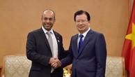 Phó Thủ tướng Trịnh Đình Dũng tiếp ông Naser Al Hajri, Phó tổng giám đốc phụ trách điều hành MP. Ảnh: VGP