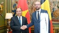Thủ tướng Nguyễn Xuân Phúc hội đàm với Thủ tướng Bỉ Charles Michel. Ảnh: VGP