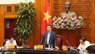 Phó thủ tướng Vương Đình Huệ chủ trì cuộc họp cổ phần hoá doanh nghiệp Nhà nước với lãnh đạo TP HCM ngày 17/10.