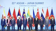 Các nhà lãnh đạo dự Hội nghị Cấp cao ASEAN-Nhật Bản lần thứ 21. Ảnh: VGP