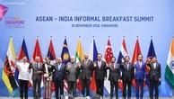 Các nhà lãnh đạo ASEAN và Ấn Độ tại cuộc làm việc. Ảnh: VGP
