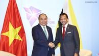 Thủ tướng Nguyễn Xuân Phúc và Quốc vương Brunei Sultan Hagi Hassanan Bolkiah. Ảnh: VGP