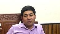 Ông Lê Văn Tuyên, Giám đốc Ban quản lý dự án huyện Hà Trung đã bị đình chỉ chức vụ.