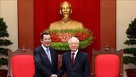 Tổng Bí thư, Chủ tịch nước Nguyễn Phú Trọng tiếp Thủ tướng Chính phủ Hoàng gia Campuchia Samdech Techo Hun Sen.