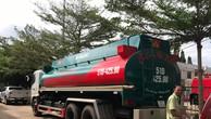 Chiếc xe bồn chở xăng không có giấy tờ chứng minh nguồn gốc bị tạm giữ