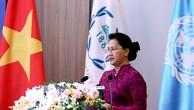 Chủ tịch Quốc hội Nguyễn Thị Kim Ngân phát biểu tại hội nghị - Ảnh: VGP
