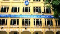 Gói thầu Thí nghiệm cọc có giá gói thầu 819 triệu đồng, thuộc Dự án Cải tạo, xây dựng Trường THCS Trưng Vương (giai đoạn 2), quận Hoàn Kiếm, Hà Nội. Ảnh: Thanh Nga